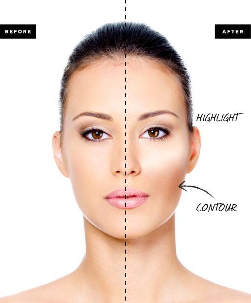 4. padoms: Kā piekoriģēt sejas formu